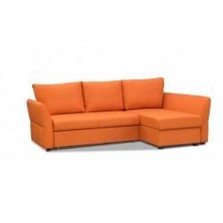 Гесен 200 диван-кровать угловой 2д-1пф 496 коралл (Romeo 08)