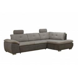 Кемерон 130 диван-кровать Б-2д-У1пф (правый угол) 425 Серый кварц (Liberty Silver Grey, Liberty Grey)