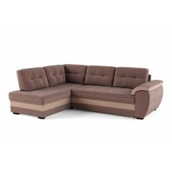 Мигель 338 угловой диван-кровать У1Пф-2д-Б (левый) 601 коричневый (Elva Vision, Elva Desert)