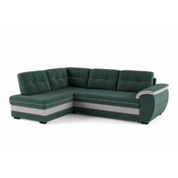 Мигель 338 угловой диван-кровать У1Пф-2д-Б (левый) 602 морская волна (Elva Atlantic, Elva Ash)