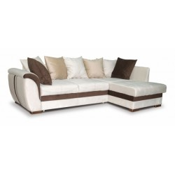 Дженифер 099 угловой диван-кровать Б-2д-У1Пф (правый) 476 беж (Vital ivory, Vital chocolate, Vital caramel)