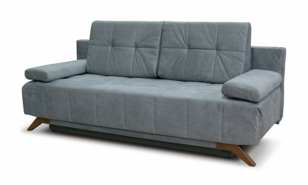 Баден-Баден 198 диван-кровать 3ек 514 темно-серый (Bergen Grey)