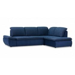 Дискавери 337 угловой диван-кровать Б-2Д-У1Пф 589 синий (Enzo 716, Спайк 34)