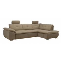 Кемерон 130 диван-кровать Б-2д-У1пф (правый угол) 424 Мокко (Liberty Nuga, Liberty Cocoa)