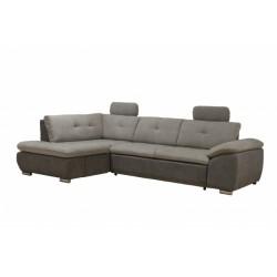 Кемерон 130 диван-кровать У1пф-2д-Б (левый угол) 425 Серый кварц (Liberty Silver Grey, Liberty Grey)