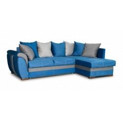Дженифер 099 угловой диван-кровать Б-2д-У1Пф (правый) 577 синий (Vital Denim, Vital Pebble, Vital Dove)