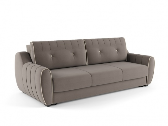 Ингрид 320 диван-кровать 3ек 546 серый (Vital Pebble, Vital Ivory)