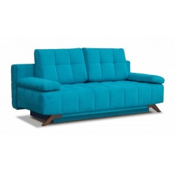 Баден-Баден 198 диван-кровать 3ек 427 лазурный (Bergen Azure)