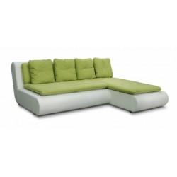 Наполи 326 диван-кровать угловой 2д-1пф (правый угол)  571 зеленый (Selma Apple, Oregon 10)