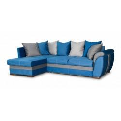 Дженифер 099 угловой диван-кровать 1ПфУ-2д-Б (левый) 577 синий (Vital Denim, Vital Pebble, Vital Dove)
