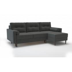 Карлос 349 диван-кровать 2тт-1пф 695 темно-серый (Кардиф 020)