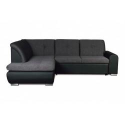Джонатан 095 диван-кровать У1пф-2д-Б (левый угол) 242 серо-черный