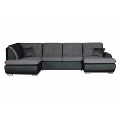 Джонатан 095 диван-кровать У1пф-2д-1пф (левый угол) 242 серо-черный