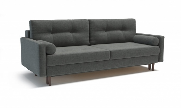 Карлос 349 диван-кровать 3тт 695 темно-серый (Кардиф 020)