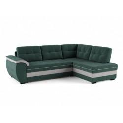 Мигель 338 угловой диван-кровать Б-2д-У1Пф (правый) 602 морская волна (Elva Atlantic, Elva Ash)
