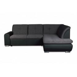 Джонатан 095 диван-кровать Б-2д-У1пф (правый угол) 242 серо-черный