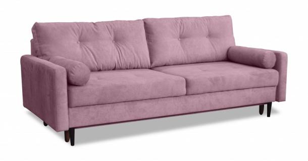 Карлос 349 диван-кровать 3тт 693 розовый (Кардиф 008)
