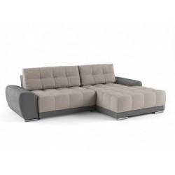 Пуэрто 342 угловой диван-кровать 2ек-2пф 591 бежево-серый (Bergen Ash, Bergen Grey)