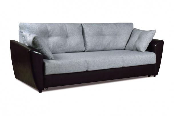 Мэделин 143 диван-кровать 3ек 366 сер (мадагаскар 06/К/з ВИК-Тр черный)