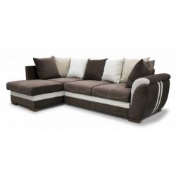 Дженифер 099 диван-кровать 1ПфУ-2д-Б (левый) 475 кор (Vital chocolate, Vital ivory, Vital caramel)
