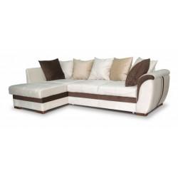 Дженифер 099 диван-кровать 1ПфУ-2д-Б (левый) 476 беж (Vital ivory, Vital chocolate, Vital caramel)