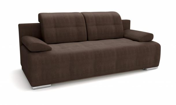 Лион 346 диван-кровать 3ек 632 коричневый (Atlanta Coffee)