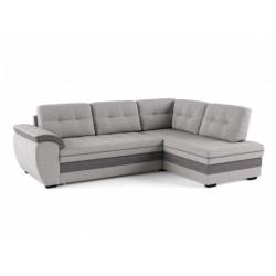 Мигель 338 угловой диван-кровать Б-2д-У1Пф (правый) 600 пепельный (Elva Ash, Elva Grey)