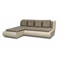 Наполи 326 диван-кровать угловой 1пф-2д (левый угол) 569 коричневый (Selma Brown, Oregon 12)