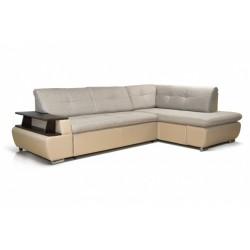 Дюссельдорф 147 диван-кровать Б-2д-У1пф (правый угол) 390 беж