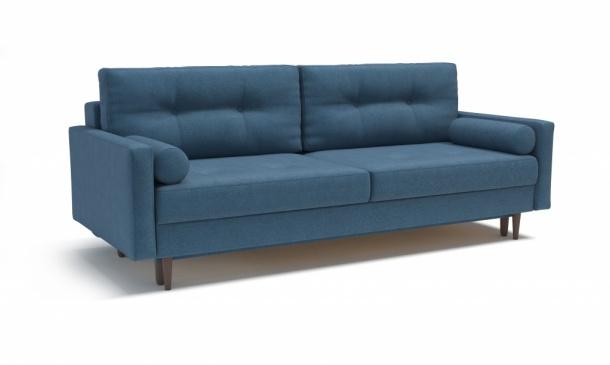 Карлос 349 диван-кровать 3тт 696 синий (Кардиф 026)