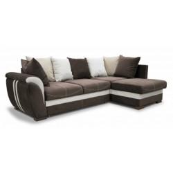 Дженифер 099 диван-кровать Б-2д-У1Пф (правый) 475 кор (Vital chocolate, Vital ivory, Vital caramel)