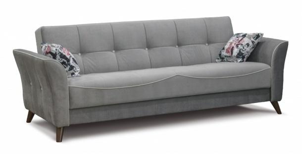 Тиффани 319 диван-кровать 3к 502 серый