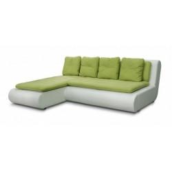 Наполи 326 диван-кровать угловой 1пф-2д (левый угол) 571 зеленый (Selma Apple, Oregon 10)