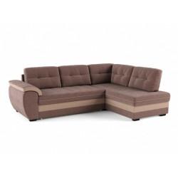 Мигель 338 угловой диван-кровать Б-2д-У1Пф (правый) 601 коричневый (Elva Vision, Elva Desert)